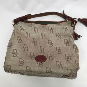 Vintage Dooney Bourke Signature Canvas handbag